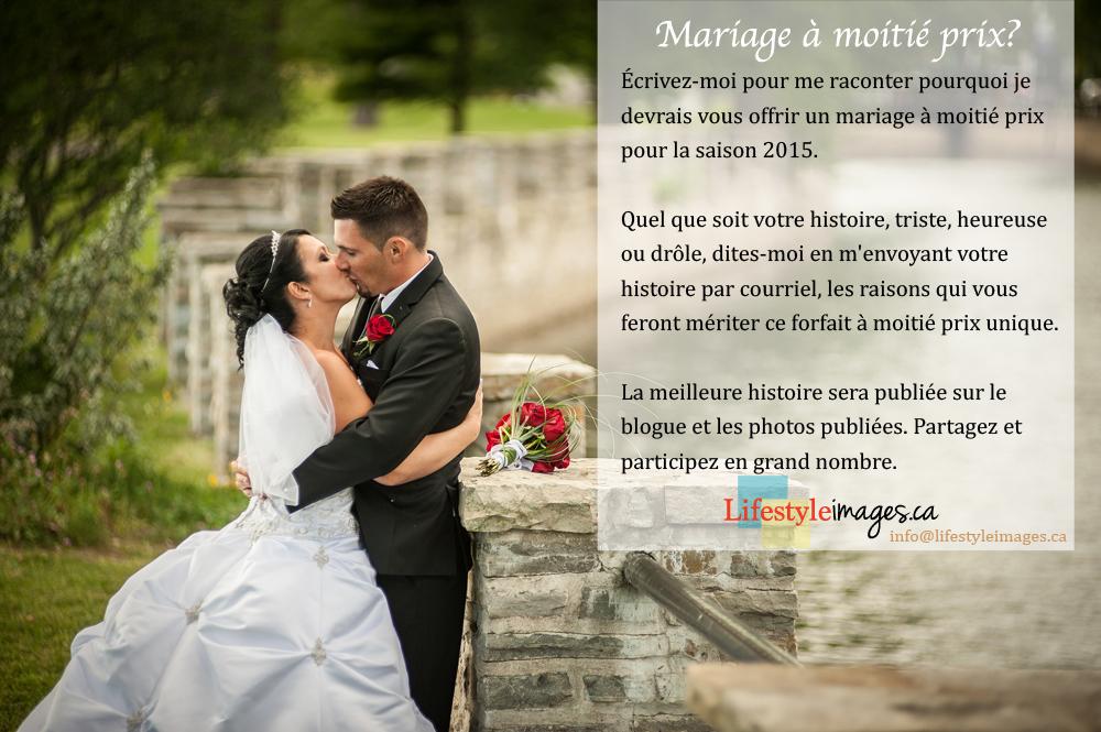 mariage moitié prix